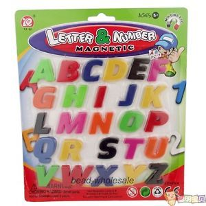 26 Alphabet Number Sign Fridge Magnet Baby Kid Educational Toy Hobbies