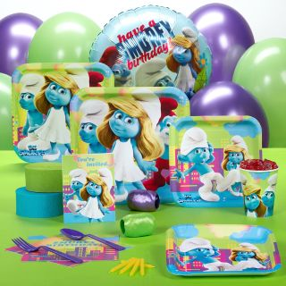 Smurfs Smurfette Movie Birthday Party Supplies Kit Pack