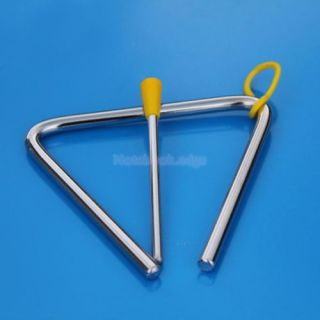 2pcs Alloy Triangle Musical Instrument Children Educational Preschool Toy Set