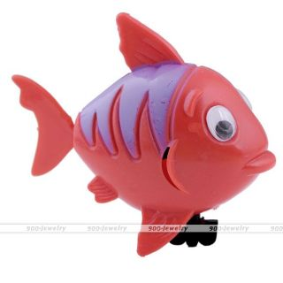 Cute Wind Up Moving Plastic Swimming Fish Baby Kids Children Bath Toy Play Gift