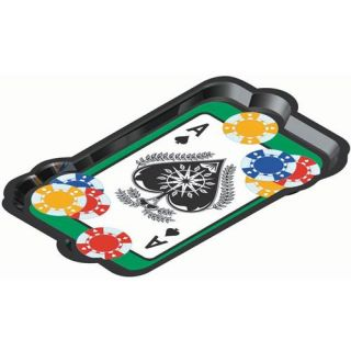Poker Night Vacuum Form Casino Themed Platter Adult Party Supplies and D�cor