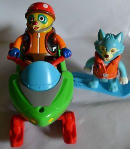 Disney Special Agent Oso Wolfie Snowmobile Lifeboat from Motorboat VGUC