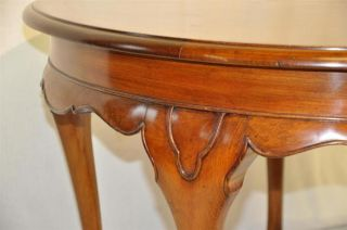 Antique Queen Ann Style Round Mahogany Coffee Table C 1920'S