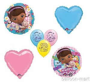 Doc McStuffins Party Decorations Balloons Birthday Supplies Pink Hearts Blue