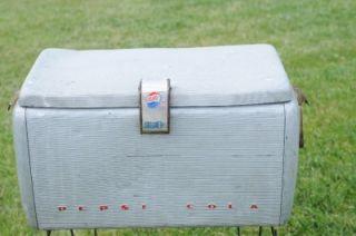 Pepsi Vintage Metal Cooler 1950s Vintage Retro Picnic Cooler Pepsi Advertising