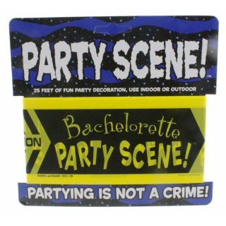 Bachelorette Party Scene Caution Tape Bridal Shower
