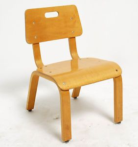 Vintage Mid Century Modern Bent Plywood Child's Chair by Thonet