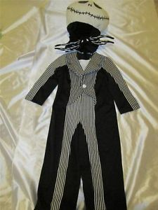 Disney Store Jack Skellington Nightmare B4 Xmas Costume Child XXS 2 3 Glows