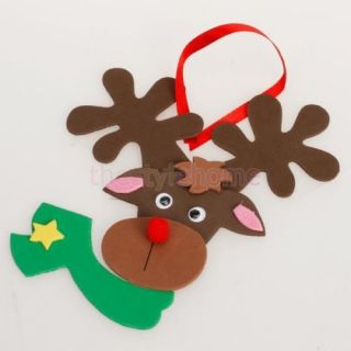 Foam Craft Kit Creative Kids Christmas Reindeer Decoration Colorful Eva Foam