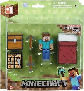 New Minecraft Core Player Steve Survival Pack Action Figure