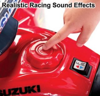 New Kids 6V Red Suzuki ATV Ride on Quad Racer Battery Toy with Sound Effects