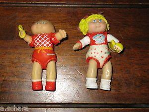 Lot of Vintage Mini Cabbage Patch Kids Figure Miniature CPK 80's Posable