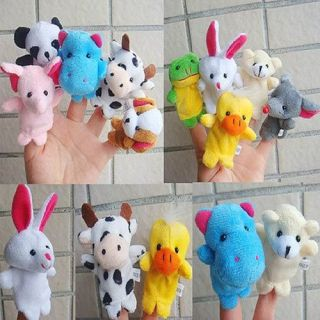 10 Finger Puppet Animal Set Baby Hand Toy Party Favor