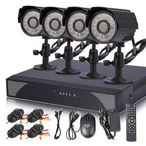 Hi Q 4CH CCTV DVR Kit Home Surveillance Security System Outdoor Camera 500GB HD