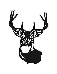 Buck Deer Head Vinyl Decal Auto Home Window