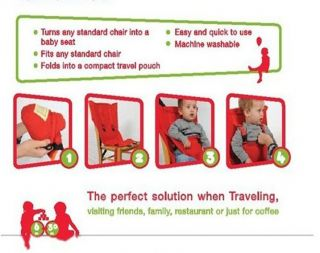 Portable Travel Baby High Chair Belt Seat Infant Sack N Sacking Seat Plus New