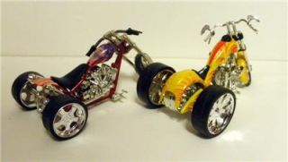 Custom Diecast Trikes w Custom OOAK Resin Biker Guys 1 18 Scale BB1