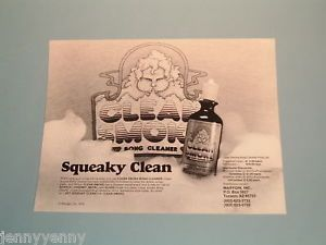 Vintage 1979 Marygin Clean Smoke Bong Marijuana Pipe Cleaner Head Shop Ad Poster