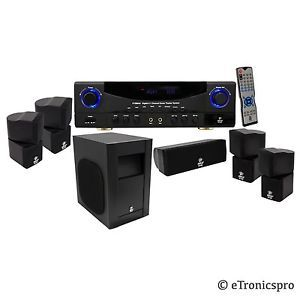 Pyle 5 1CH 350W Home Theater Receiver System Surround Sound Subwoofer Speaker