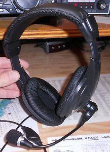 W2ENY Two Ear Premium Headset Boom Microphone Icom Kenwood Yaesu Tentec Alinco