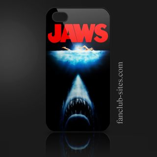 Jaws Shark Horror 3 Classic Movie Ocean Sea iPhone 4 4G 4S Hard Case Cover