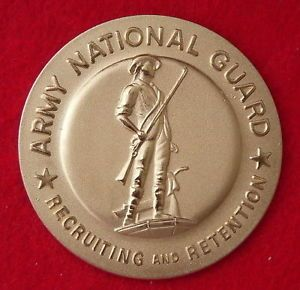 US Army National Guard Recruiting Retention ID Badge