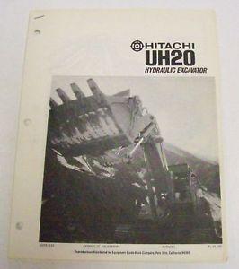 Hitachi 1970s UH20 Hydraulic Excavator Sales Brochure