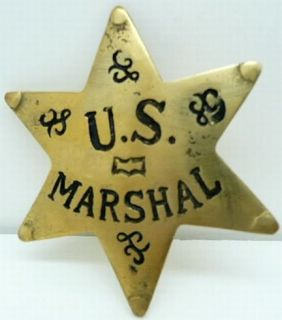 US Marshall Badge Old West Police Cowboy Badges 6