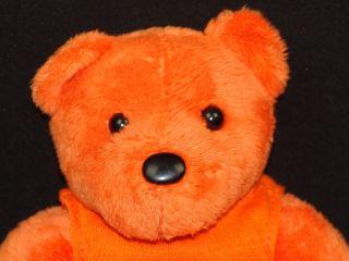 Ing Advertising T Shirt Orange Teddy Bear Plush Stuffed Animal Insurance Toy