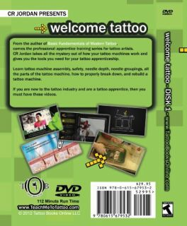 Welcome Tattoo Apprentice Training Series DVD Disk 1 2012 USA Seller