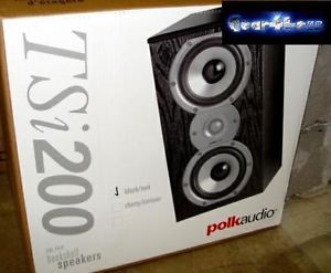 Polk Audio TSI 200 Stereo Bookshelf Home Theater Speakers TSI200 New Pairs