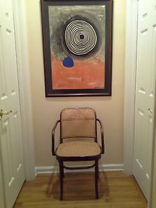 Mid Century Thonet Bentwood Arm Accent Chair Made in Poland