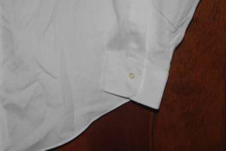 Men's Dress Shirt Brooks Brothers Slim Fit No Iron Size 16 35 White