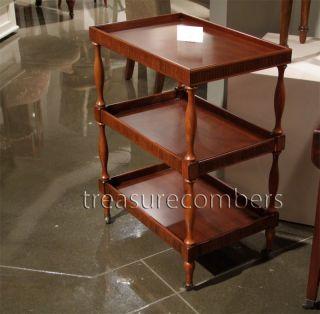 Italian 3 Tier Shelf Wood Server Unit Table Bar Cart