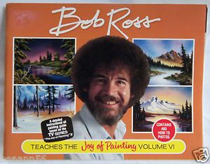 Bob Ross Joy of Painting Volume VI 6 Instructional Oil Painting Guide Book