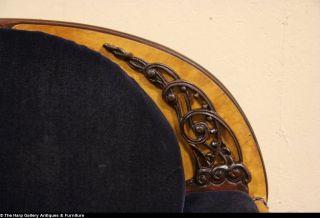 Art Deco Original Cobalt Mohair 1935 Club Chair