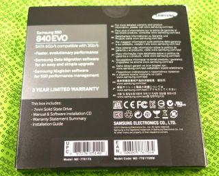 ... New 1TB Samsung 840 EVO 2 5 inch SSD Laptop Solid State Drive SATA MZ  7TE1T0 ...