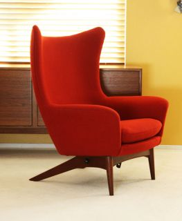 danish egg lounge chair hans olsen recliner teak mid century modern eames knoll. Black Bedroom Furniture Sets. Home Design Ideas