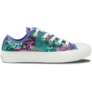 Converse Chuck Taylor All Stars Circus Sequins Womens Shoe Silver Blue Red