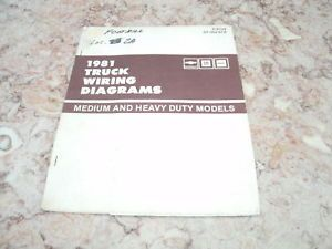 1981 Chevy GMC Truck Wiring Diagrams Medium Heavy Duty