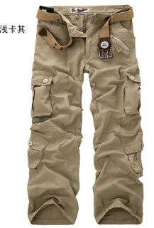 New Men's Casual Fashion Camouflage Loose Overall Cargo Pants Jeans Trousers Hot