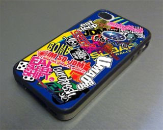 Subaru Sticker Bomb Fits iPhone 4 4S Cover Case STI JDM ProDrive