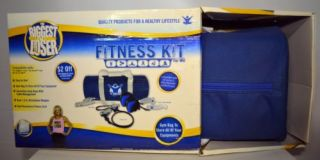 The Biggest Loser Fitness Kit for Wii Gym Bag Jump Rope Resistance Cord Weights