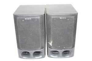 Pair of 2 Used Tested Working Sony SS H10 6 Ohm Home Stereo Bookshelf Speakers