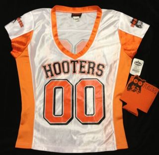 Sexy Hooters Girls Football Uniform Jersey Halloween Costume Bonus Koozie