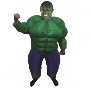Inflatable Adult Incredible Hulk Fancy Dress Costume Party Muscle Suit Outfit