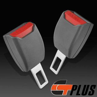 Seat Lap Belt Buckle Extender Clip Warning Dismiss Universal Auto Cars Gray 2pcs
