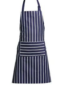 Premier Housewares Navy Butcher Stripe 100 Percent Cotton Apron