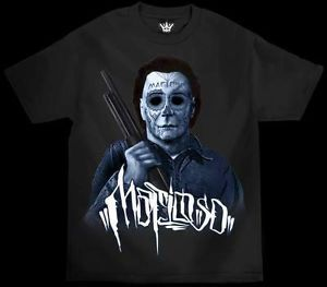 Authentic Mafioso Clothing Halloween Michael Myers Horror Tattoo T Shirt