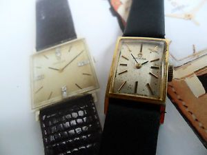 Vintage 1966 Women's Omega 17 Jewel Watch Cal 484 Gold Tone Case Signed